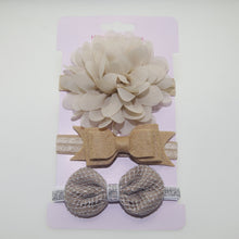 Load image into Gallery viewer, 3Pcs/Set Baby Girls Lovely Flower Bowknot Elastic Headband Hair Band Headwear - shopbabyitems