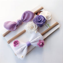 Load image into Gallery viewer, 3Pcs Infant Baby Girl Bowknot Flower Headband Hairband Headwear Decor Gift - shopbabyitems
