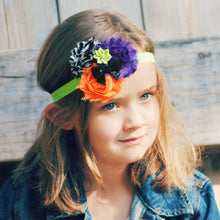 Load image into Gallery viewer, Handmade Baby Girls Sunflower Bowknot Hairband Headband Halloween Hair Decor - shopbabyitems