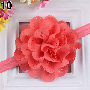 Baby Girls Kids Fashion Hollow Lace Flower Headband Headwear Hair Band Accessory - shopbabyitems