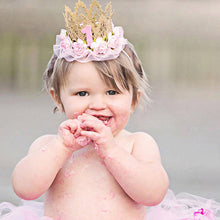 Load image into Gallery viewer, Baby Girl Infant Princess Queen Rose Crown Headband Headwear Hair Accessory - shopbabyitems