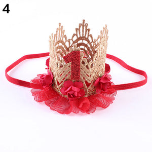 Baby Girl Infant Princess Queen Rose Crown Headband Headwear Hair Accessory - shopbabyitems
