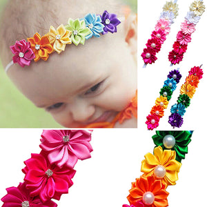 Baby Kids Girl Toddler Colorful Six Flowers Hair Band Headband Photo Props - shopbabyitems