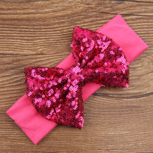 Load image into Gallery viewer, Infant Girls Baby Sequined Bowknow Hair Band Headwear Headband Hair Accessory - shopbabyitems