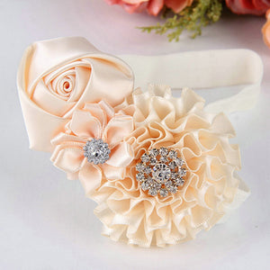 Baby Toddler Infant Flower Rose Rhinestone Hair Band Headband Photo Prop Tool - shopbabyitems