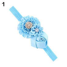Load image into Gallery viewer, Baby Toddler Infant Flower Rose Rhinestone Hair Band Headband Photo Prop Tool - shopbabyitems