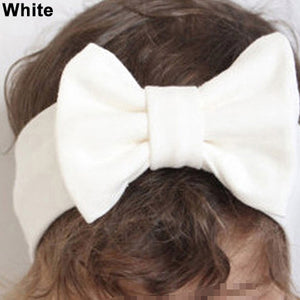 1Pc Cute Baby Girls Big Bowknot Elastic Headband Hairband Headwear Accessory - shopbabyitems
