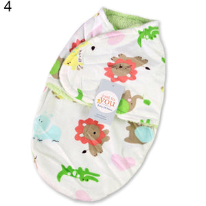 Dual-layer Newborn Baby Infant Wrap Swaddle Blanket Warm Breathable Sleeping Bag - shopbabyitems
