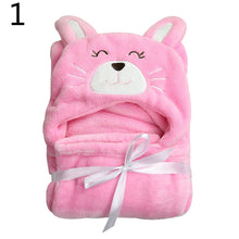 Load image into Gallery viewer, Toddler Baby Winter Warm Flannel Blanket Bath Towel Windproof Hooded Cloak Coat - shopbabyitems