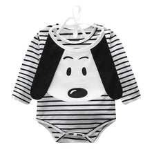 Load image into Gallery viewer, Baby Unisex Stripe Long Sleeve Romper Jumpsuit Cartoon Dog Bib Clothing Suit - shopbabyitems