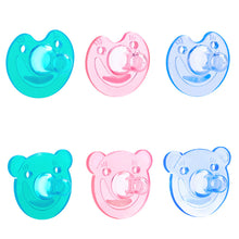 Load image into Gallery viewer, Cartoon Bear Smiling Face Dummy Pacifier Silicone Newborn Baby Soother Nipple - shopbabyitems