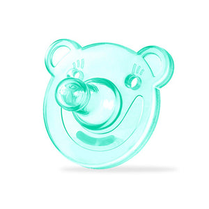 Cartoon Bear Smiling Face Dummy Pacifier Silicone Newborn Baby Soother Nipple - shopbabyitems