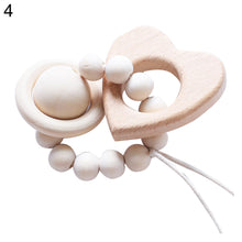 Load image into Gallery viewer, Cartoon Elephant Star Heart Beech Wood Infant Baby Teether Molar Rod Funny Toy - shopbabyitems