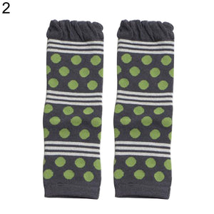 Winter Toddler Baby Boys Girls Leg Warmers Stripe Dots Print Knee Length Socks - shopbabyitems