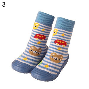 Baby Boy Girl Learning Walking Cartoon Animal Socks Rubber Soles Floor Shoes - shopbabyitems