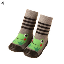 Load image into Gallery viewer, Baby Boy Girl Learning Walking Cartoon Animal Socks Rubber Soles Floor Shoes - shopbabyitems