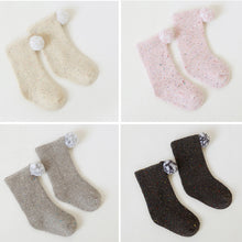 Load image into Gallery viewer, Infant Baby Girls Boys Autumn Winter Pompom Ball Soft Warm Comfortable Socks - shopbabyitems