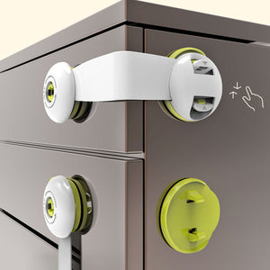 Cabinet Drawer Fridge 360° Rotation Adhesive Children Baby Safety Lock Latches - shopbabyitems