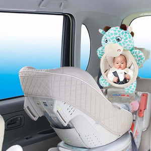 Cartoon Bear Car Back Seat Mirror Rearview Adjustable Baby Kid Safety Monitor - shopbabyitems