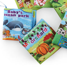 Load image into Gallery viewer, Baby Kids Vegetable Animal Letters Cognition Early Educational Cloth Book Toy - shopbabyitems