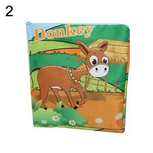 Baby Kids Vegetable Animal Letters Cognition Early Educational Cloth Book Toy - shopbabyitems