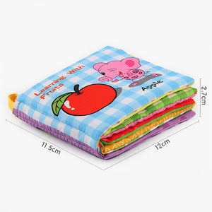 Baby Sound Fabric Cloth Books Intelligence Development Learning Educational Toys - shopbabyitems