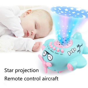 Cute Musical Projection Aircraft Airplane Educational Sleeping Newborns Baby Toy - shopbabyitems