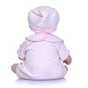 Simulation Newborn Baby Vinyl Silicone Reborn Doll Bathing Sleeping Toy Gift - shopbabyitems