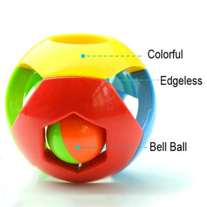 Funny Baby Grasping Rattles Ball Kids Jingle Bell Educational Intellectual Toy - shopbabyitems