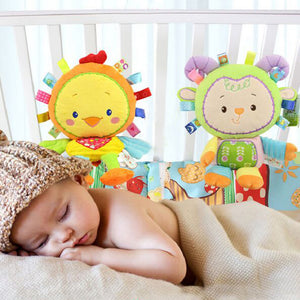 Lion/Pig/Cow/Chick Newborn Baby Soft Plush Rattle Toys Pacify Doll Hand Bell - shopbabyitems