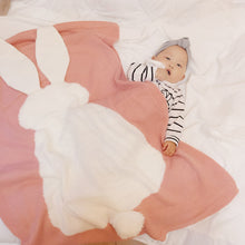 Load image into Gallery viewer, Infant Newborn Baby Warm Soft Rabbit Ears Crochet Blanket Quilt Kids Bedding - shopbabyitems