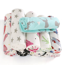 Load image into Gallery viewer, Cotton Infant Newborn Baby Wrap Blanket Swaddle Sleeping Bag + Bowknot Headband - shopbabyitems