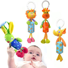 Load image into Gallery viewer, Baby Infant Bed Stroller Soft Plush Cartoon Animal Rattle Music Hanging Bell Toy - shopbabyitems
