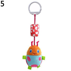 Baby Infant Bed Stroller Soft Plush Cartoon Animal Rattle Music Hanging Bell Toy - shopbabyitems