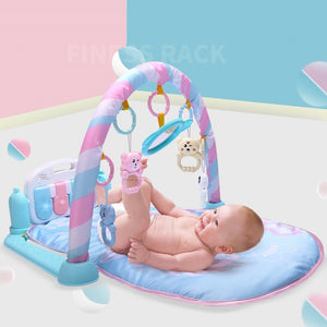 Lovely Baby Game Mat Kick Play Piano Music Light Hanging Rattle Educational Toy - shopbabyitems