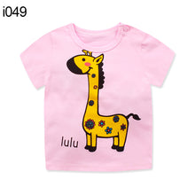 Load image into Gallery viewer, Summer Baby T-Shirt Boys Girls Short Sleeve Cartoon Cute Crew Neck Kids Top Tee - shopbabyitems