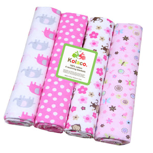 4Pcs Printed Cotton Newborn Baby Bed Sheets Infant Breathable Changing Mats Pads - shopbabyitems
