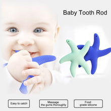 Load image into Gallery viewer, Cartoon Starfish Silicone Infant Soothing Teether Baby Tooth Chew Teething Toy - shopbabyitems