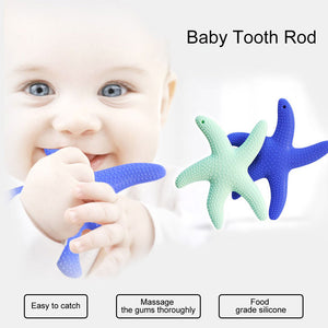 Cartoon Starfish Silicone Infant Soothing Teether Baby Tooth Chew Teething Toy - shopbabyitems