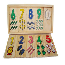 Load image into Gallery viewer, Wooden Colorful Number Shape Puzzle Plate Matching Game Educational Kids Toy - shopbabyitems