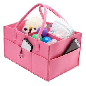 Baby Large Capacity Diaper Caddy Storage Organizer Bin Travel Tote Bag Basket - shopbabyitems