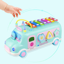 Load image into Gallery viewer, Lovely School Bus Baby Percussion Piano Beads Matching Blocks Educational Toy - shopbabyitems