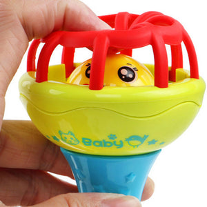 Multicolor Baby Teether Rattle Toy Grasping Gums Hand Bell Educational Gift - shopbabyitems