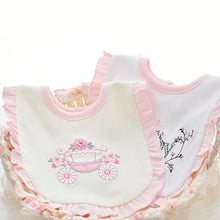 Load image into Gallery viewer, Lovely Girls' Carriage Duck Letter Rabbit Cotton Baby Snap Button Reversible Bib - shopbabyitems