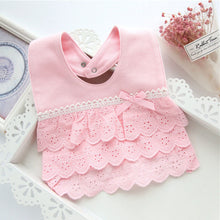Load image into Gallery viewer, Baby Bib Cotton Newborn Infant Lace Feeding Drinking Saliva Towel Cover Apron - shopbabyitems