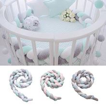 Load image into Gallery viewer, 2m Braided Soft Crib Bumper Protector Newborn Baby Infant Bed Cushion Room Decor - shopbabyitems