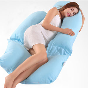 Maternity Cotton U Shape Pillow Pregnant Women Comfortable Sleeping Support - shopbabyitems
