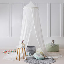 Load image into Gallery viewer, 240cm Kids Baby Room Bed Dome Curtain Canopy Chiffon Tassel Hung Mosquito Net - shopbabyitems