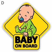 Load image into Gallery viewer, Cartoon Baby on Board Vehicle Body Windshield Reflective Sticker Decoration - shopbabyitems