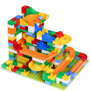 Marble Race Run Maze Balls Track Building Blocks ABS Funnel Slide - shopbabyitems